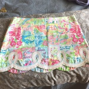 Lilly Pulitzer States Patchwork Skirt